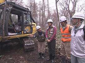 林業振興課(1) 林業振興課② 林業の現場を視察