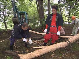 林業振興課(4) 林業振興課⑮ ツリーハウス着工(前)