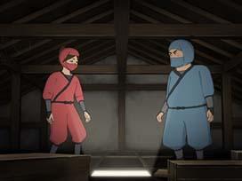 忍者 屋根裏に潜伏中