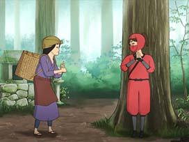 忍者 雑木林で特訓中