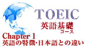 Chapter 1 英語の特徴・日本語との違い