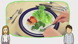 【フランス料理】つけ合わせのサラダの食べ方