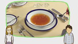 【フランス料理】スープの食べ方